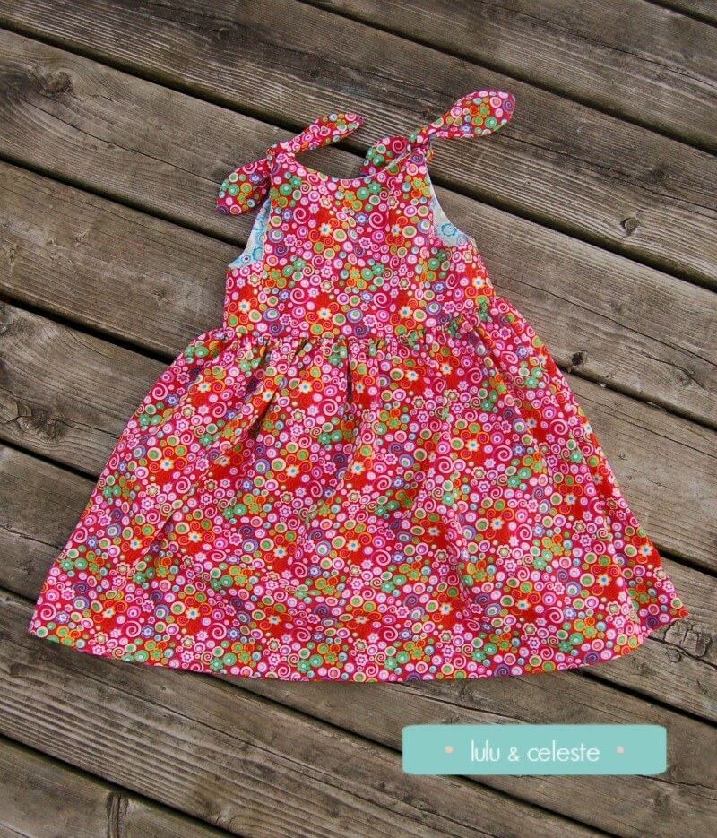 Petite Fille dress with Mabel Madison Stenzo sewn by Lulu& Celeste